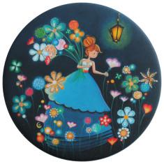 La nuit fleurie pocket mirror