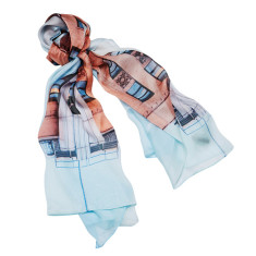 Deco Reflect silk scarf