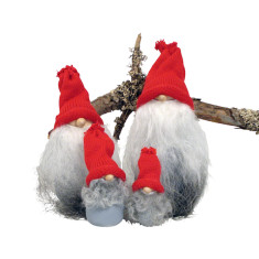 Santa Greybeard decorations (set of 4)