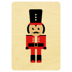 Nutcracker wooden Christmas postcard