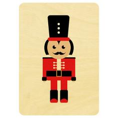Nutcracker wooden Christmas postcard