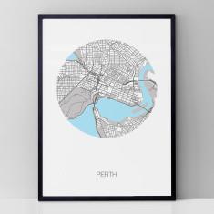Perth round print