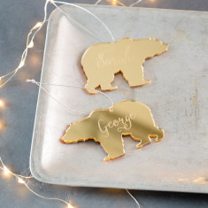 Personalised Mirrored Polar Bear Decoration