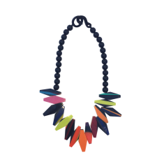 Biba Artisan Jagged Necklace Multi
