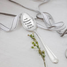 Personalised Vintage Silver Plated Christening Teaspoon