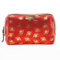 nooki design - metallic bee printed wash bag