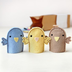 Make Your Own Bird Finger Puppets Craft Kit