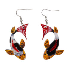 Erstwilder playing koi earrings