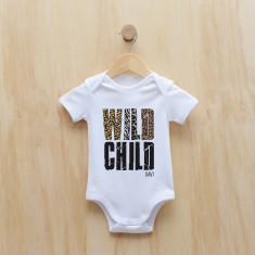 Wild child personalised animal print bodysuit