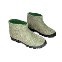 Men's Wool Desert Boots Grey Green
