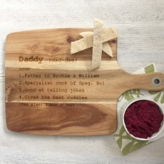 Personalised Dictionary Definition wooden chopping board