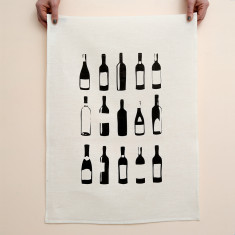 Bottles tea towel