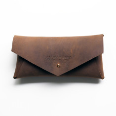 Postman Raw Leather Glasses Case