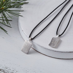Men's Personalised Silver Initial necklace
