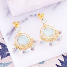 Sara circle earrings