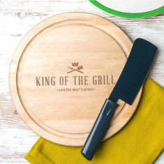 Personalised 'King Of The Grill' Serving Board