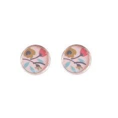 Rose gold studs in flower patch