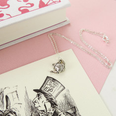 Alice in wonderland teapot necklace