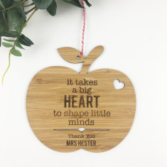 It Takes A Big Heart Personalised Wall Hanging