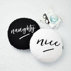 Naughty & Nice Cushions