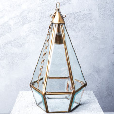 Small Faceted Brass Lamp