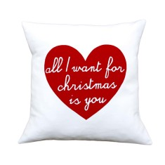 All I want for Christmas is you handmade cushion cover