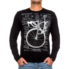 Cognitive therapy men's long sleeve t-shirt in black