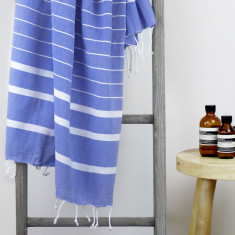 Bondi Turkish Towel in Sailor Blue