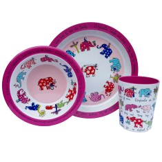Tyrrell Katz Elephants melamine dinner set, plate, bowl and cup