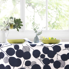 Tablecloth in Eucalyptus Mood Indigo