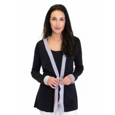 Silk Cashmere Kimono Cardigan In Slate