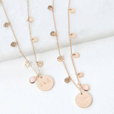Personalised Gold Plated Boho Necklace