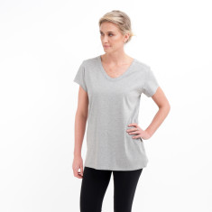 Rounded V Tee in Grey Marle