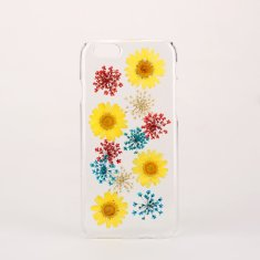 Pressed mixed real flower clear phone case for iPhone & Samsung