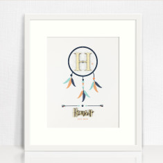 Bamboo Dreamcatcher Personalised Name Print