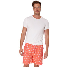 Gone fishing red men's sleep shorts