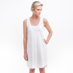 Singlet Dress in White