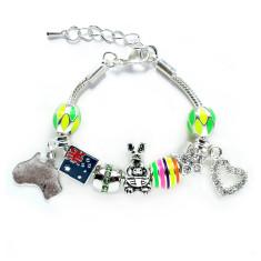 Australia neon charm bracelet