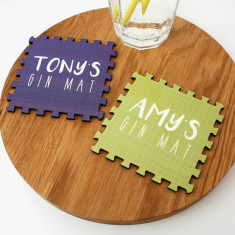 Personalised Interlocking Drinks Coasters