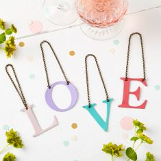 Pastel Initial Bottle Tag