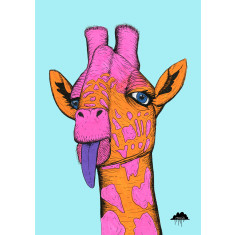 Bronweena the giraffe art print