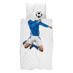 Snurk quilt cover set soccer champ blue