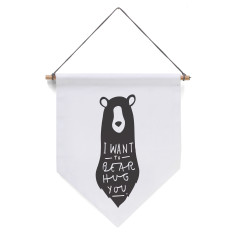 Bear Hug Banner Flag