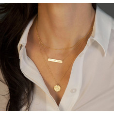 Nameplate necklace 18k gold vermeil