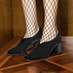 Tara Pump Heels in Black Velvet