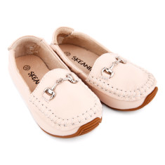 Classic leather loafers in cream