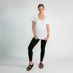Modal/cotton t-shirt in white