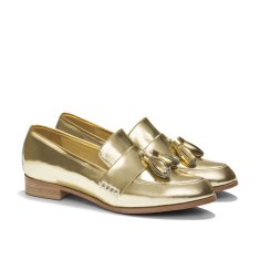 Ecstasy tassel loafers in metallic gold