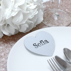 Personalised Laser Cut Heart Place Names (Set Of 10)