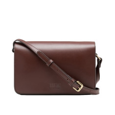 Leather shoulder bag in brown